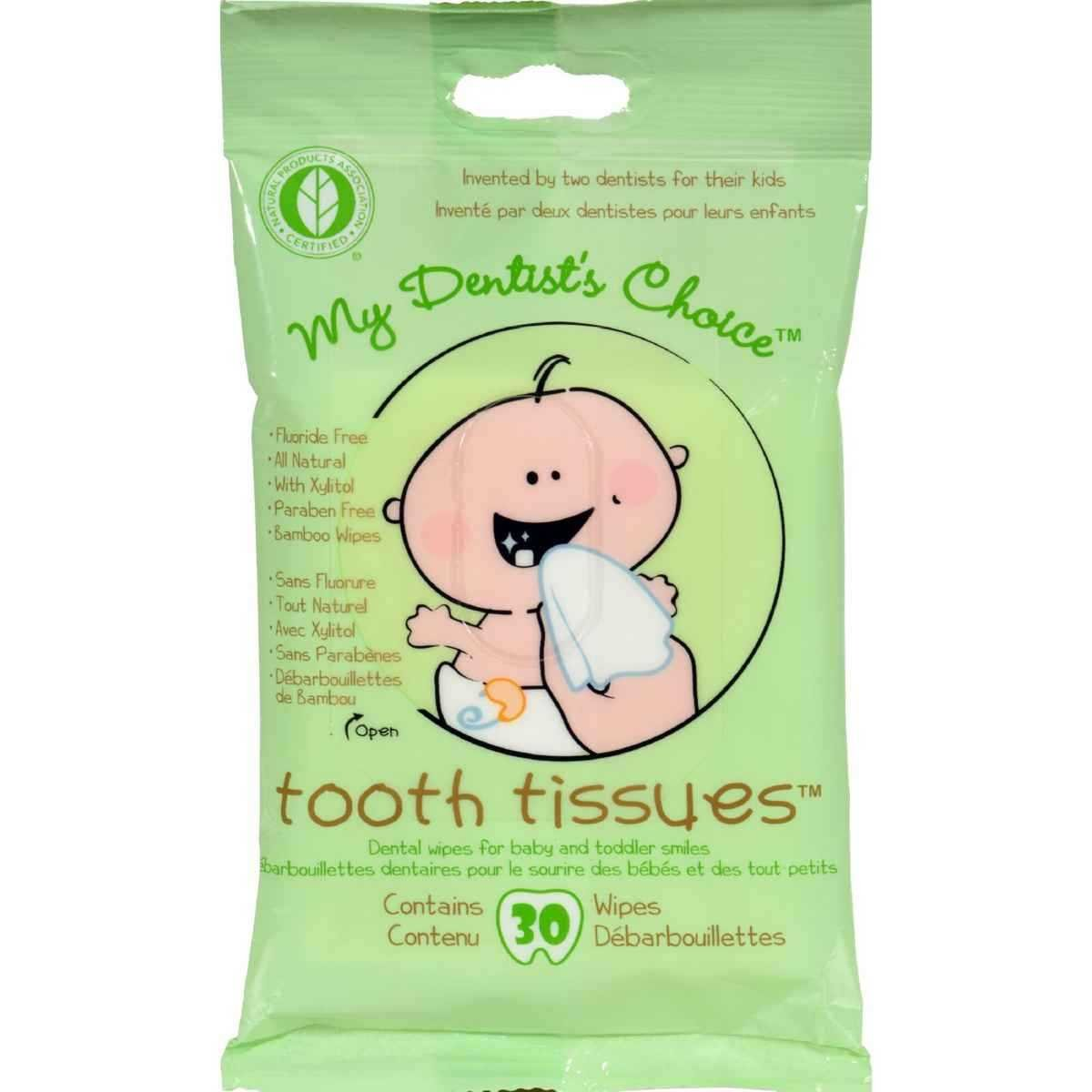 My Dentist's Choice Dental Wipes Tooth Tissues -- 30 Wipes [Health and Beauty] 201