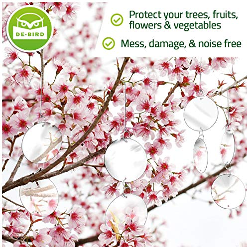 Wirksamer Schutz vor Tauben Spechte Taubenabwehr Vogelscheuche Vogelschreck Aufh/änger zur Vogelabwehr Taubenschreck