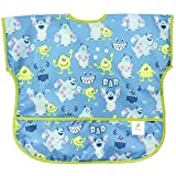 Bumkins Disney Baby Waterproof Junior Bib, Monsters Blue (1-3 Years)