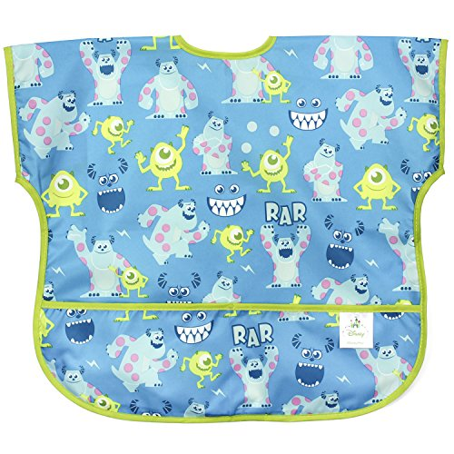 Bumkins Disney Baby Waterproof Junior Bib, Monsters Inc. Blue  (1-3 Years)
