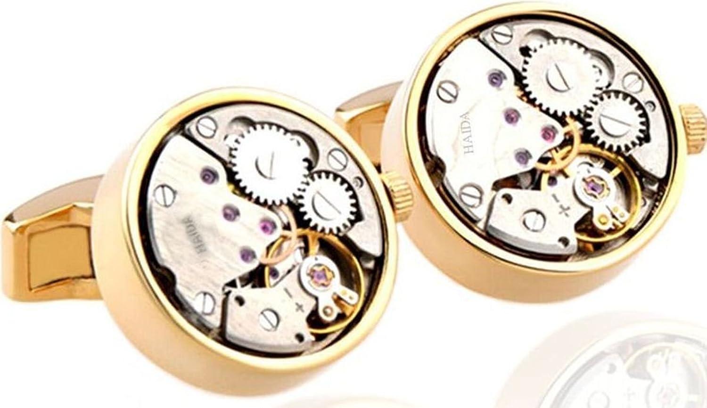 Amazon.com: Mancuernillas estilo Steampunk con movimiento de engranajes regalo de Oro de 18K: Jewelry