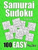 Samurai Sudoku Easy Puzzles - Volume 1: 100 Easy Samurai Sudoku Puzzles for the New Solver (Number Puzzle Fun)
