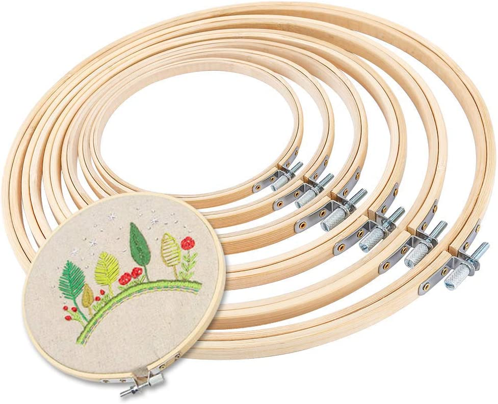 10 Inch And 5 Inch CROSS STITCH CRAFT BAMBOO RINGS HOOPS