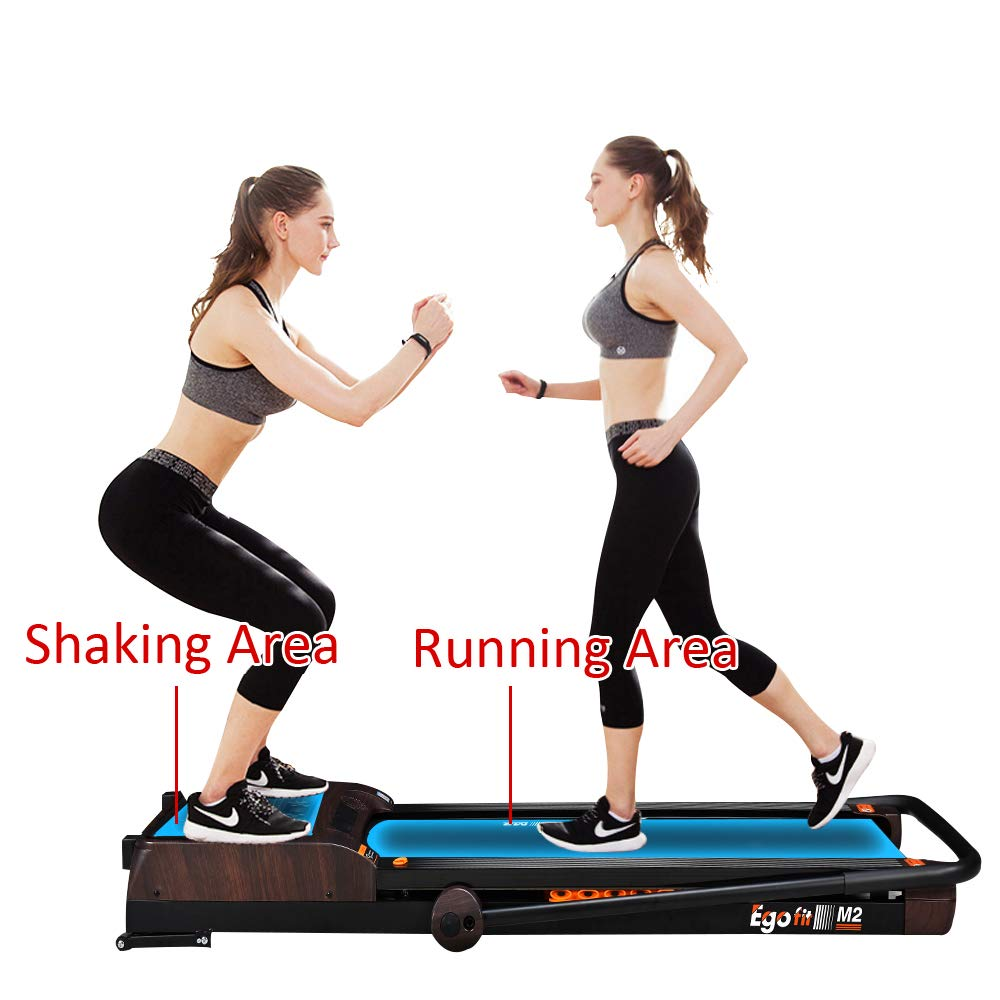 EGOFIT M2 Treadmill 3 in 1 Integrate Running Machine 7.5Mph and Vibration Platform Under Desk Treadmill Walking Machine Perfect for Office & Home by EGOFIT