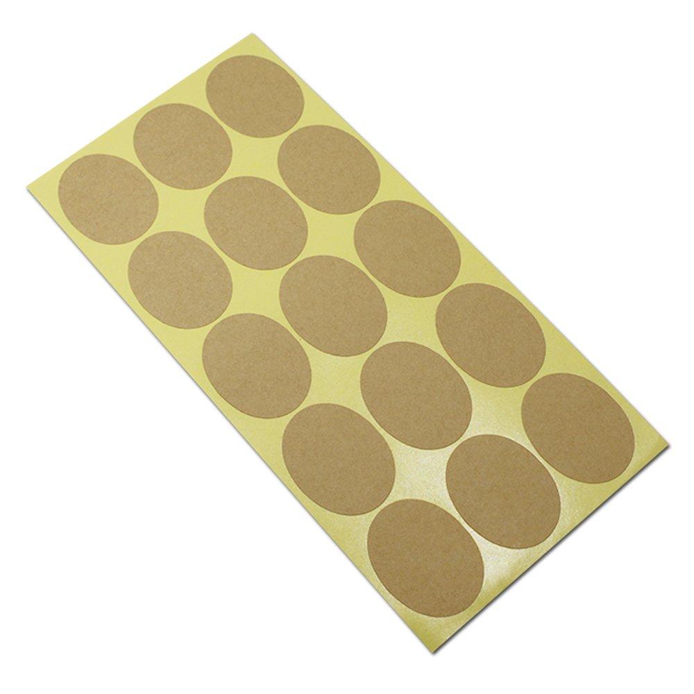 34cm (1.2x1.6'') 500 Sheets (7500Pcs) Oval Kraft Paper Sealing Paste DIY Gift Cake Baking Event Packing Blank Brown Paper Decor Sticker Self Adhesive Seal Label