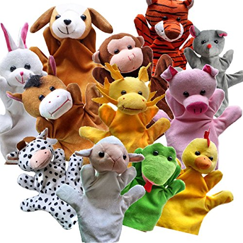 ixaer Hand Puppets-Funny Hand Puppets For Kids Plush