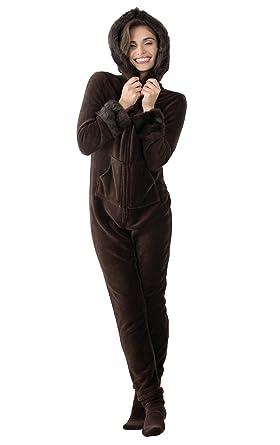 2f2752b62e Amazon.com  PajamaGram Luxe Onesies for Women - Onesies Pajamas for Women