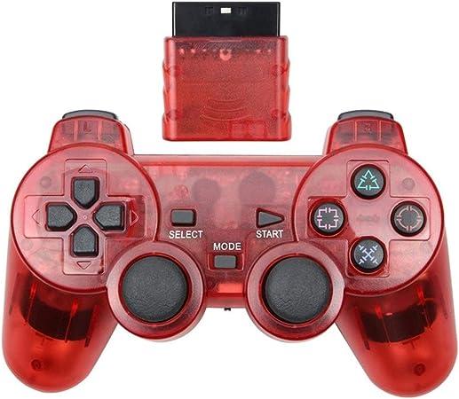 NO LOGO Mando inalámbrico Joy Pad for PS2 Consola de Juegos Bluetooth Mando Jogos Manette Controle Joystick Gamepad for Sony Playstation 2 (Color : Red): Amazon.es: Hogar