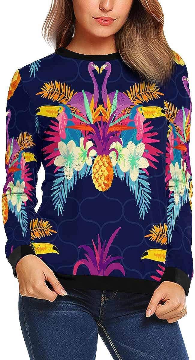 INTERESTPRINT Womens Casual Sweatshirt Tribal Pattern Crew Neck Pullover Tops