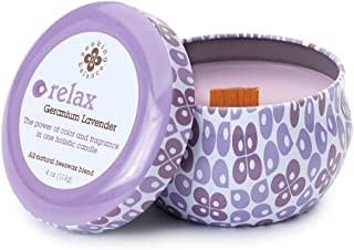 product image for Root Candles Seeking Balance Spa Traveler Candle, 4-Ounce, Relax: Geranium Lavender