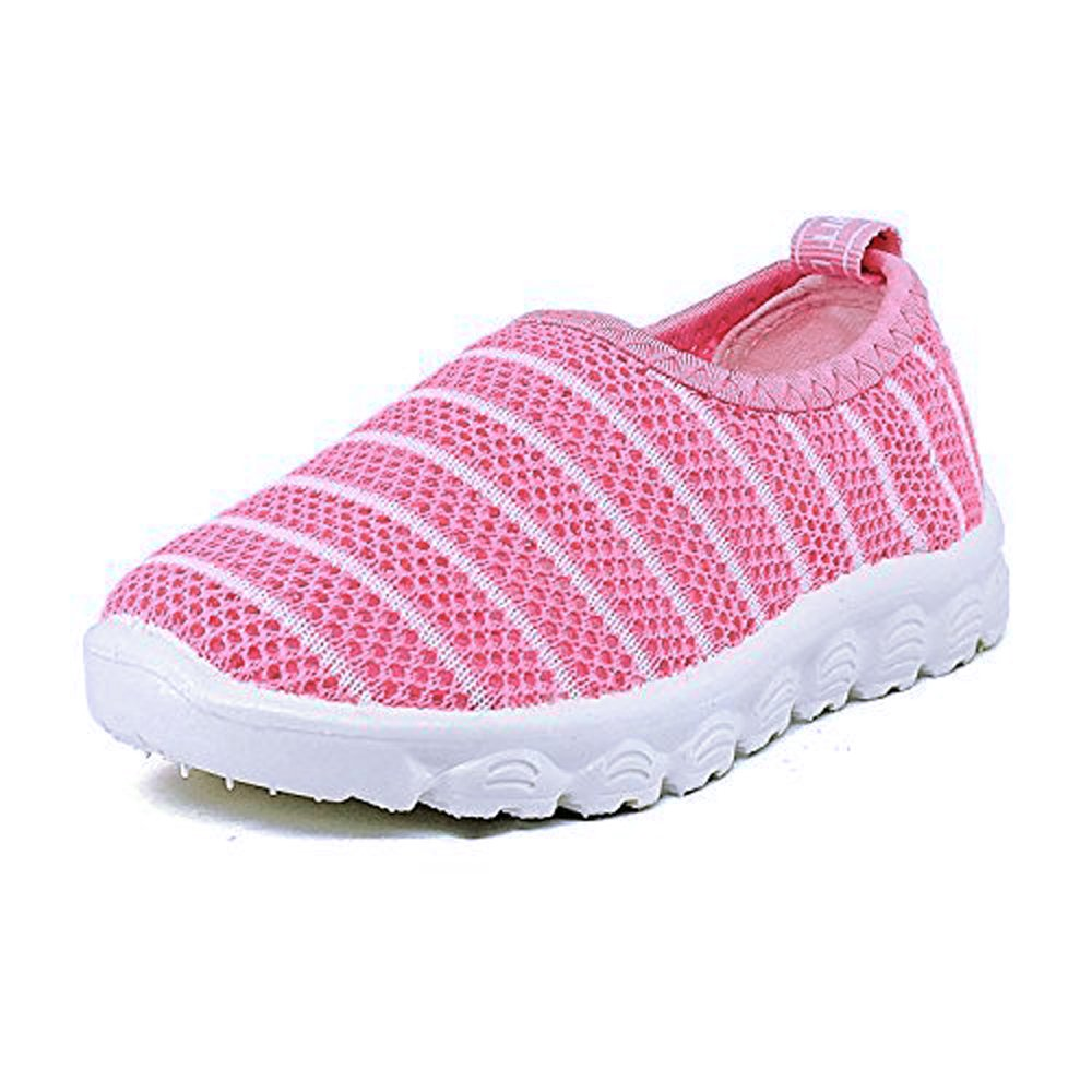 Antheron Kids Water Shoes Boys Girls Breathable Slip-On Summer Pool Beach Mesh Sneakers (Toddler/Little Kid) Pink,25