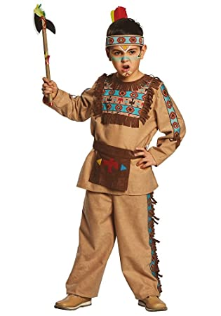 Disfraz infantil de indio americano, talla 104-152, color marrón ...