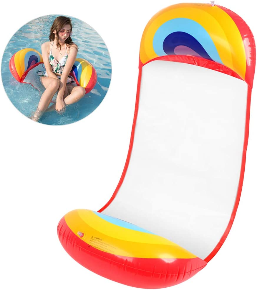 Universal Inflatable Floating Air Bed Beach Mat Lemon Fruit Style Floating Lounger Swimming Pool Floats Chair for Adults Bheddi Pool Inflatable Water Hammock
