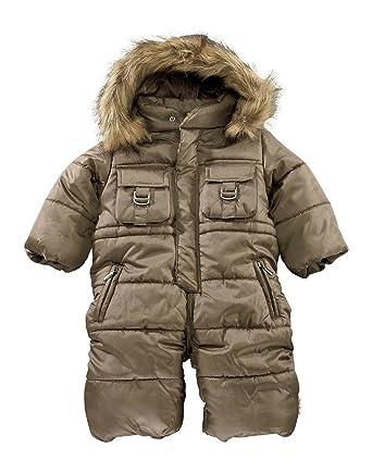 9ae960254c5f Klitzeklein Baby Boys  Snowsuit Multicoloured Taupe - Multicoloured ...