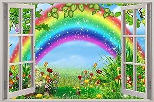 Removable Wall Sticker/Mural Fairy Garden 3D Window Sticker Wall Sticker Home Decor Art Wallpaper Kids Children-50CMx70CM