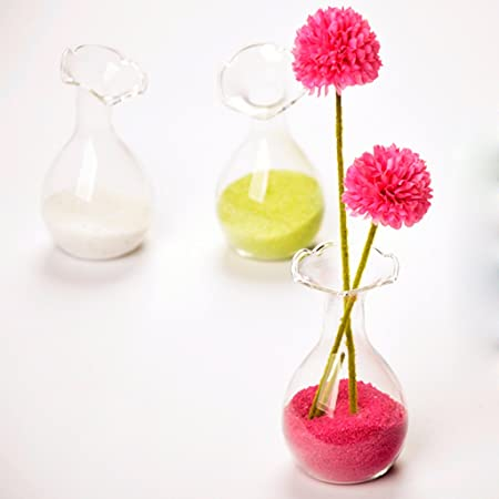 Flor De Cristal Europeo Botella Florero De La Decoración Del Hogar Hidropónico Contenedor Terrario: Amazon.es: Hogar