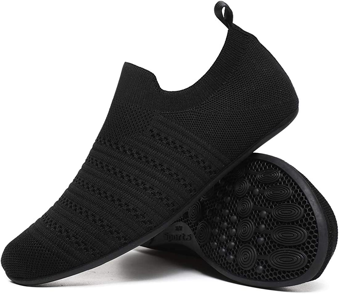 Hayeabi Lightweight House Slippers Slip On Home Sock Shoes for Womens Mens
