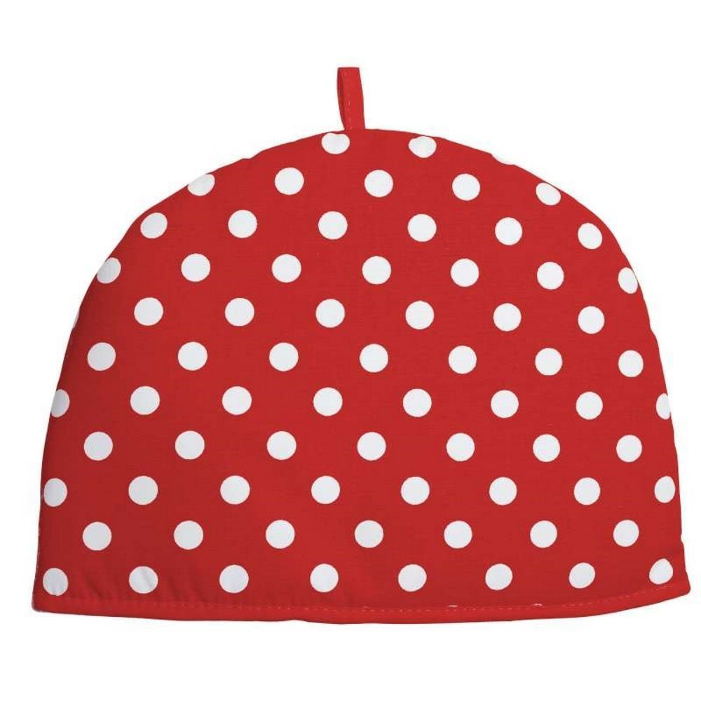Rushbrookes by Dexam Red Flamenco Spot Cotton 6 Cup Tea Cosy 16163978