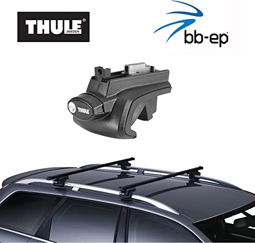 Thule Steel Roof Rack 90105003/Complete System Including Lock for Toyota Land Cruiser 150/with Normal Raised Roof Rails including 1/L Kroon Oil Scren Nwash