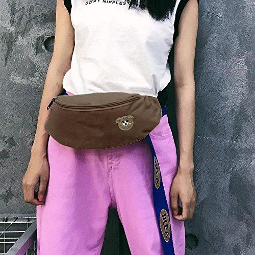 la historieta la lona de oscuro de de correa Fanny del bolsa Bolsos mujeres de hombro las pecho de marrón Widewing la la cintura Bolsos de rojo de CwvnPqa