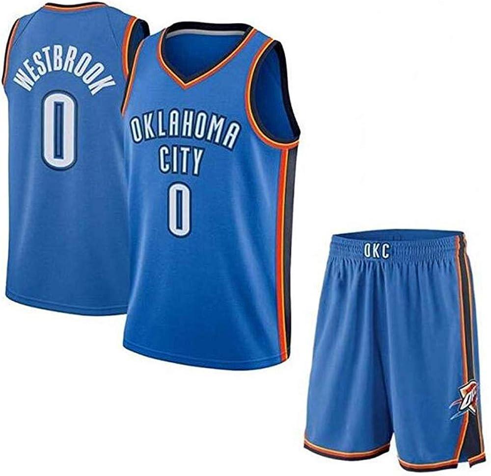Russell Westbrook # 0 Camiseta De Baloncesto De Los Hombres - NBA ...