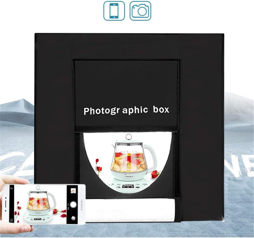 Color : Black , Size : 40x40x40cm Folding Photo Studio Kit 40cm Portable Shooting Tent Box Small Studio Set Camera Mini Simple Soft Light Box Product Shooting Props for Photographing Shooting Tent