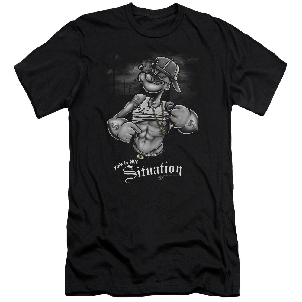 Popeye Situation S Shirt Black