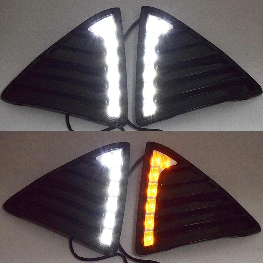RUNGAO 1 par de Luces antiniebla LED de 12 V para Ford Focus 3 MK3 2012-2014 DRL Luces de circulaci/ón Diurna
