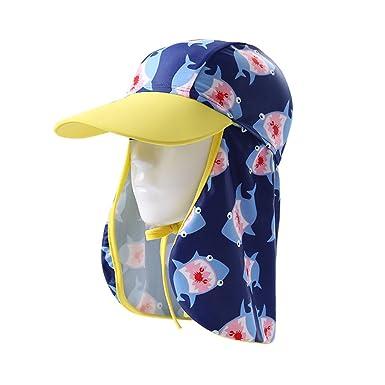 9b11853673c Gogokids Boys Girls Sun Hat Flap Cap - Kids UV Sun Protection Beach Hat Baby  Summer