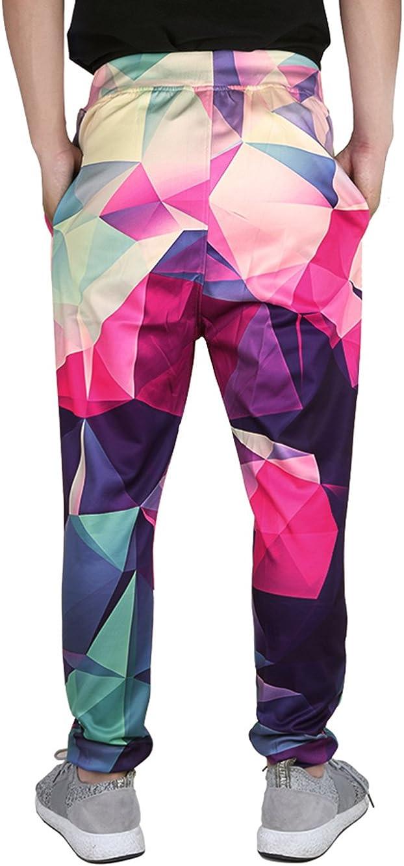 chicolife Corredores Pantalones Unisex Hombres Mujeres Graphic 3D Impreso Sport Track Gimnasio Sweatpant Holgados Casuales Pantalones de Activo