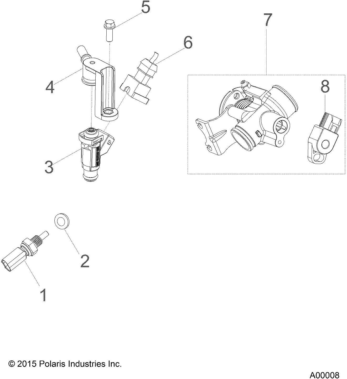 polaris engine diagram amazon com polaris sensor  engine coolant  ect automotive  polaris sensor  engine coolant  ect