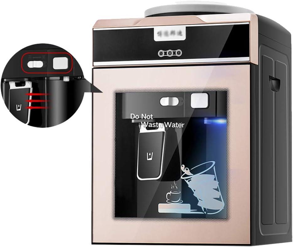 ウォーターディスペンサー-デスクトップウォーターディスペンサーホットとコールドの家庭用ミニ小型省エネ強化ガラスドアドア冷却水ディスペンサー、ホームドミトリーオフィス用