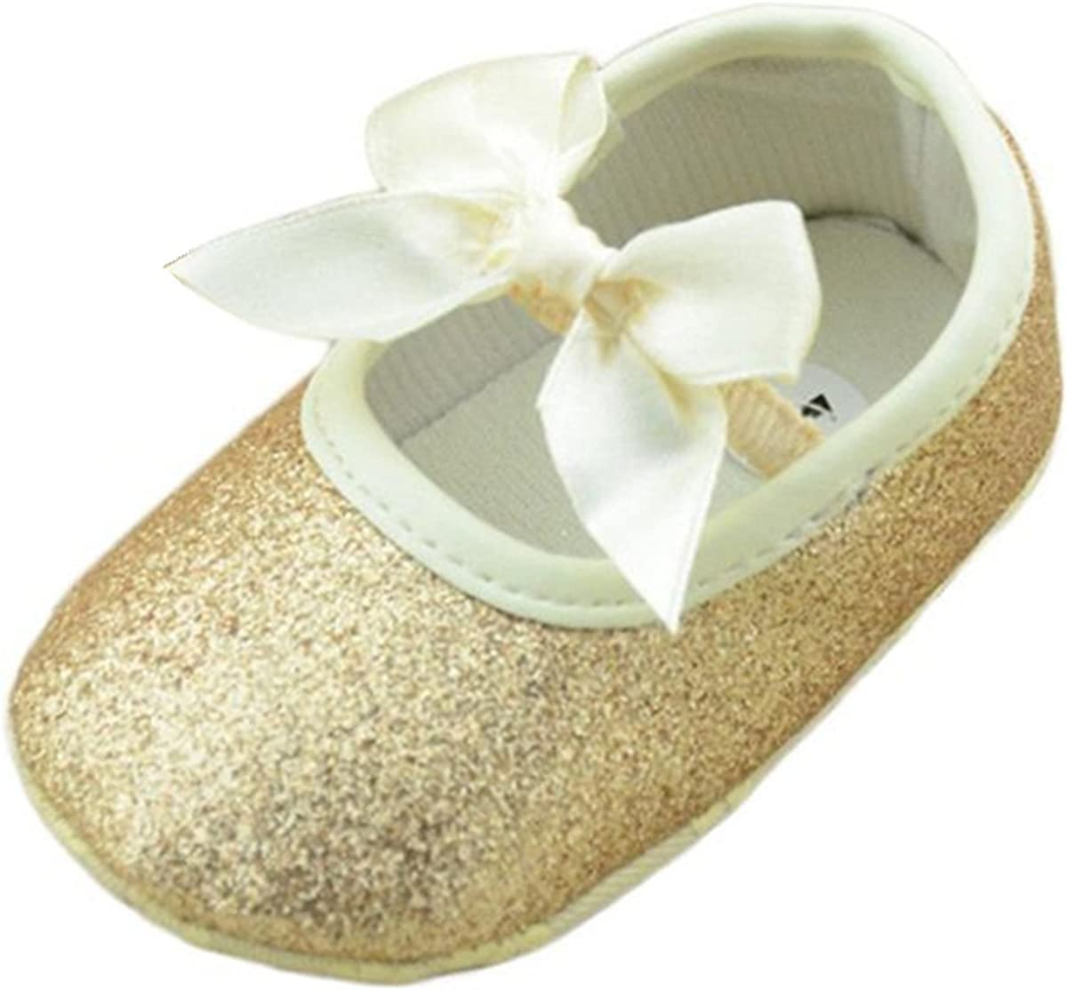12cm//6-12M, Gold Perman Baby Girls Infant Glitter Shoes Sneaker Anti-Slip Soft Sole Toddler