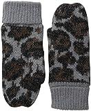 BADGLEY MISCHKA Women's Ocelot Mittens, Grey/Multi, One Size