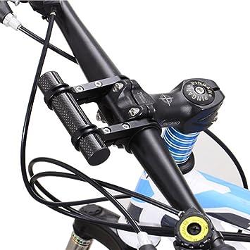 Extension Bicycle Flashlight Holder Handle Bar Front Light Mount Bike Bracket