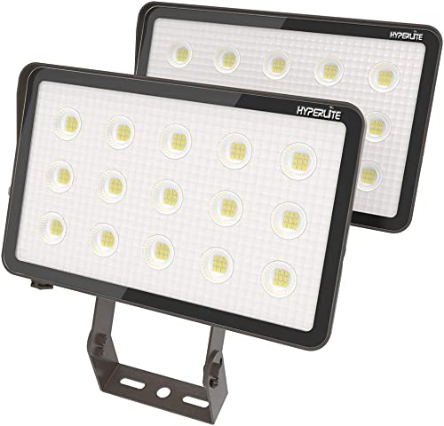 HYPERLITE LED Outdoor Flood Light 70W 7,700Lm 5000K Daylight IP65 Waterproof LED Flood Lights UL Qualified 2 Pack