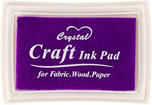 Purple Ink Pad Finger Washable Kids Stamp Ink Pad for Rubber Stamps Paper Scrapbooking