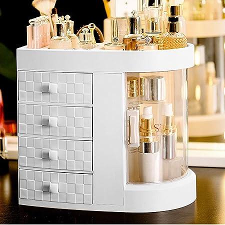 Organisateur De Maquillage, 180 Degrés Grande Capacité Clair Bijoux Cosmétique Parfums Boîte De Rangement 5 Couches