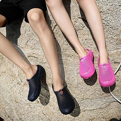 Jardin de Mules de l'air FOBEY Flip Sabots Plage Bleu Flops Perméable Pantoufles Couple Homme Femme Chaussures à Antidérapant fOvH0Yvq