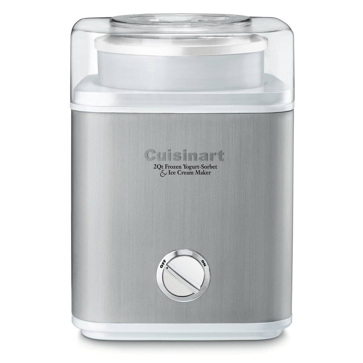 CUISINART ICE-30WNC Pure Indulgence Frozen Yogurt-Ice Cream & Sorbet Maker, Silver, 1 Count