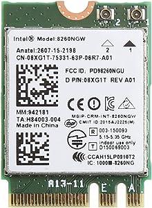 Ontracker WiFi Card WiFi Stick Dual Band 867M Bluetooth V4.2 M.2 Wireless Card for Int-EL 8260 AC DE-LL 8260NGW