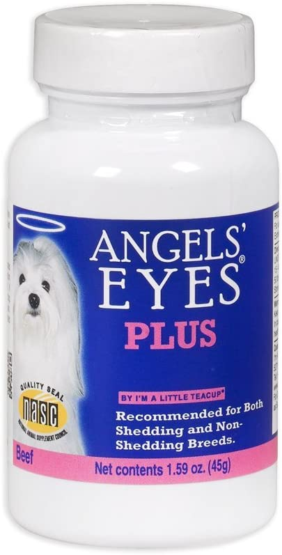 Angels' Eyes PLUS Tear Stain Prevention Powder for Dogs - 45 gram - Beef Formula