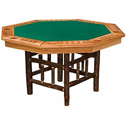 Hickory Poker Table Real High Quality Wood Western Lodge Rustic Cabin