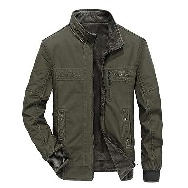 Luckycat Männer Herbst Winter tragen Baumwolle Jacken auf