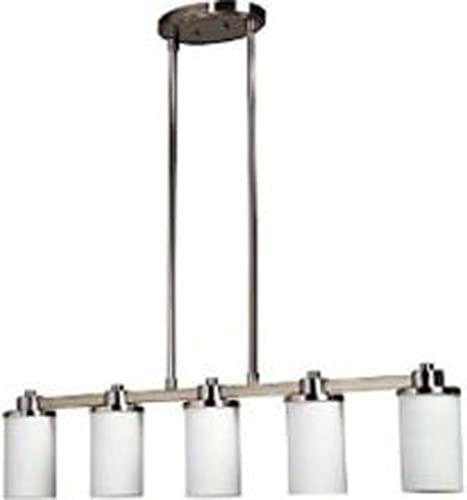 Artcraft Lighting Parkdale 5-Light Island Light, Polished Nickel