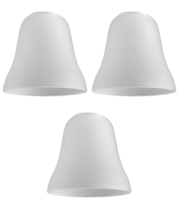 MiniSun LOT de 3 - Globes en Verre. CLOCHE. Verrerie Givré. Globes en Verre de remplacement