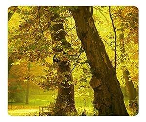 Decorative Mouse Pad Art Print Landscape and Plants Golden Trees 2