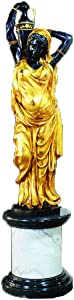 Toperkin Indian Lady Right Side Bronze Statues Large Garden Sculpture Home Decor TPE-027R