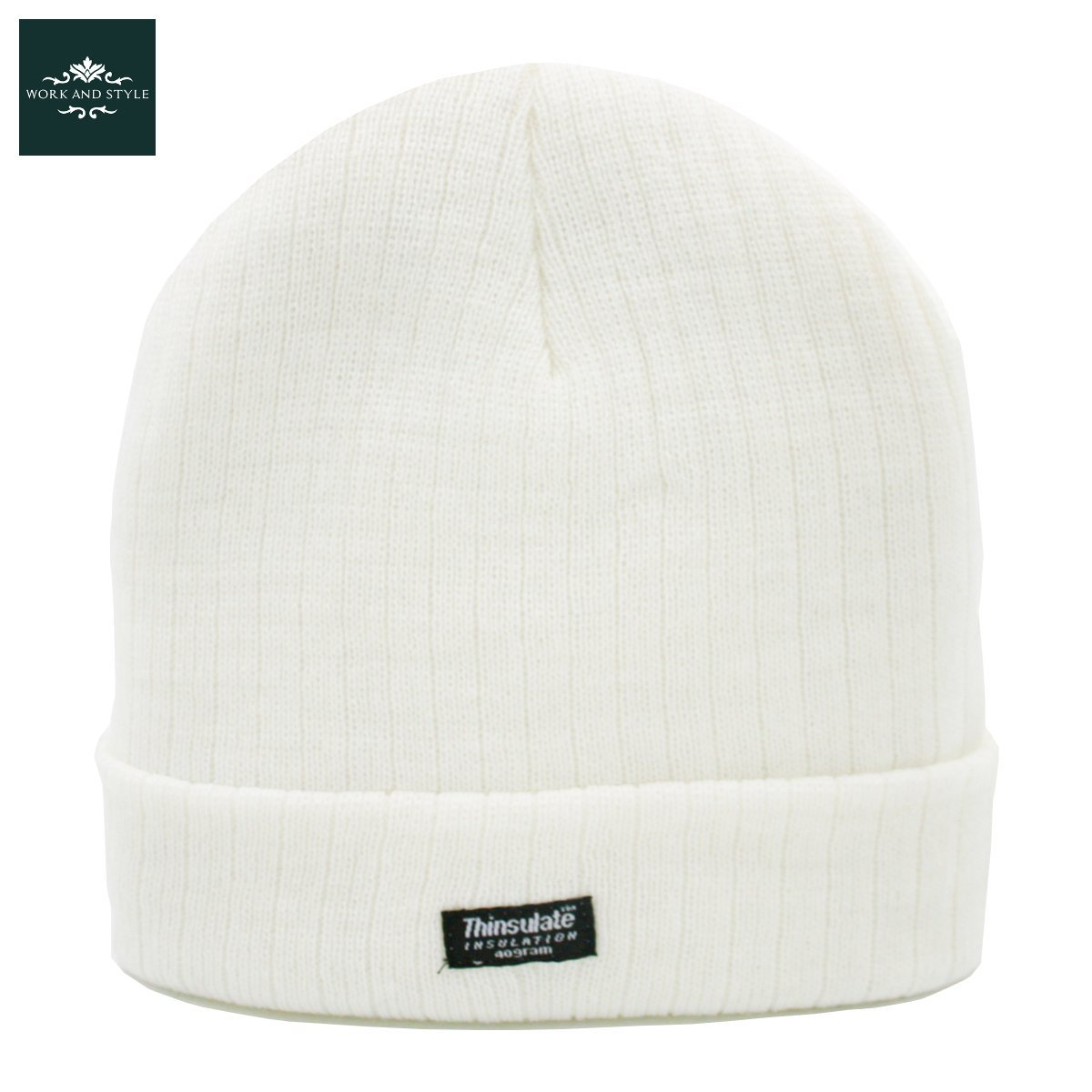 Warmy – Gorro con Vuelta Thinsulate 3M Beanie - by Work and Style - Verde Oliva, Talla única (aprox. 53-60 cm)