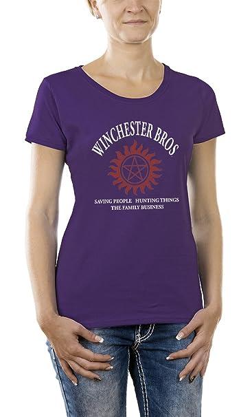 Touchlines Winchester Bros Family T Shirt Pour Femme Amazon Fr